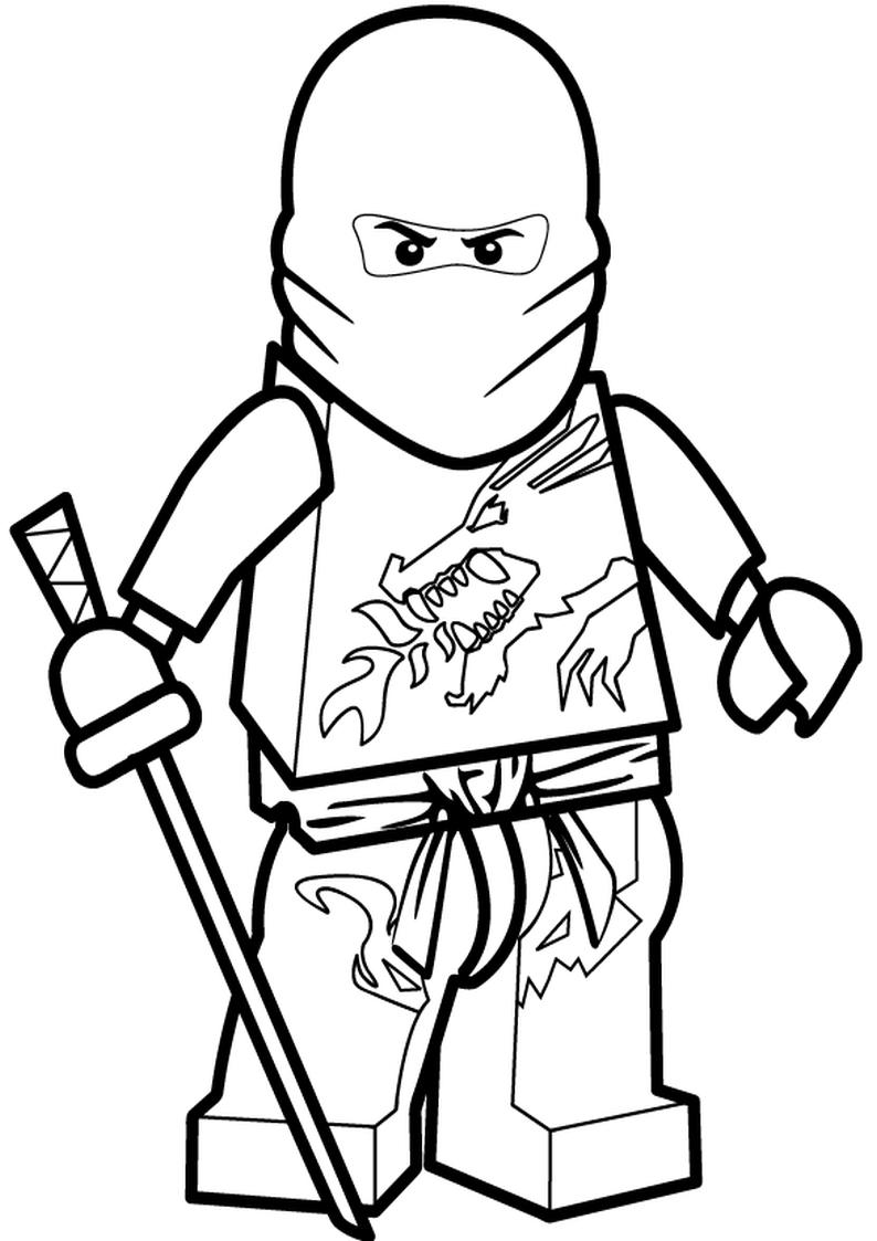 Kolorowanka Lego Ninjago Malowanka Nr 21