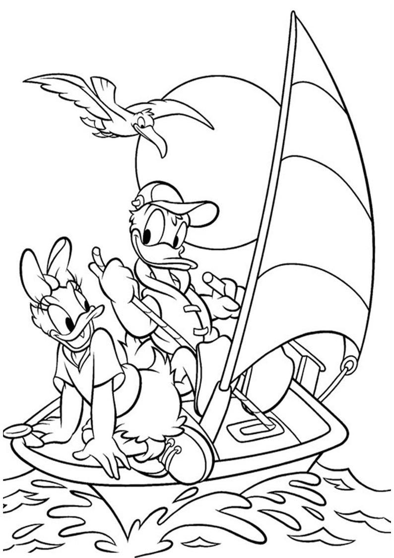 Kolorowanka Kaczor Donald Disney Nr 16