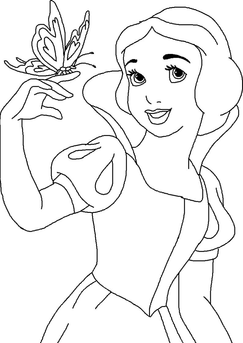 dla dziewczyn królewna Śnieżka kolorowanka nr 35