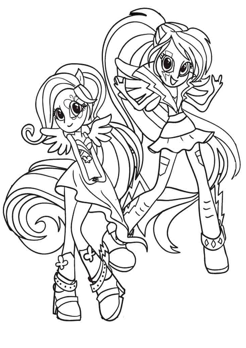 kolorowanka Equestria Girls malowanka do wydruku My Little Pony nr 25