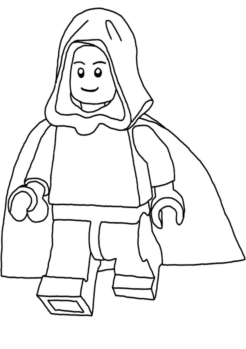 Kolorowanka Puzzle Lego Star Wars Yoda Luke Skywalker Obi Wana