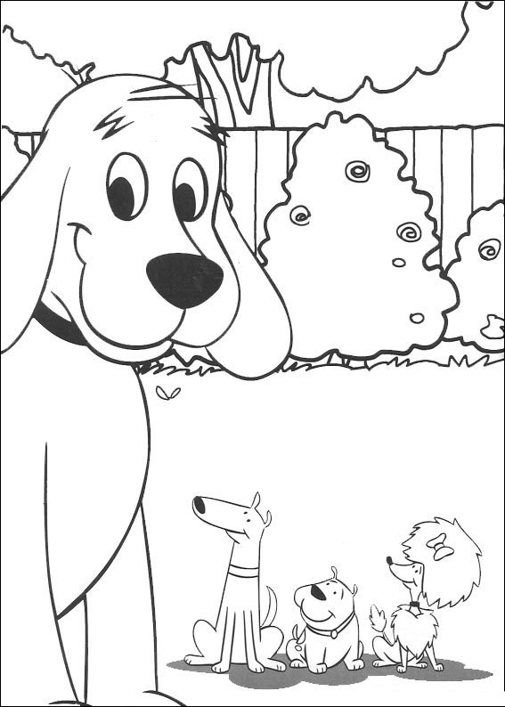 coloring pages of clifford - photo#12