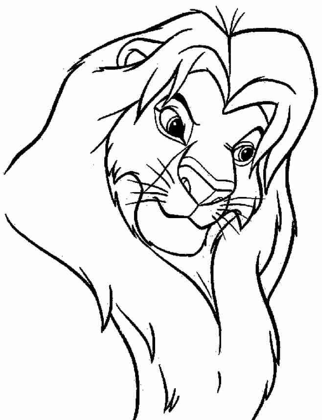 Bajka disney kr l lew dostoje stwo w pe nej krasie dla dzieci kolorowanki do wydruku - Dessin facile lion ...
