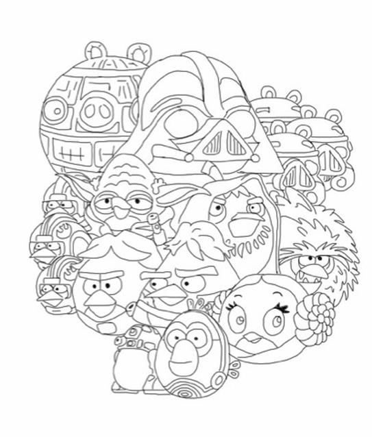Kolorowanka Angry Birds Star Wars Malowanka Nr 21