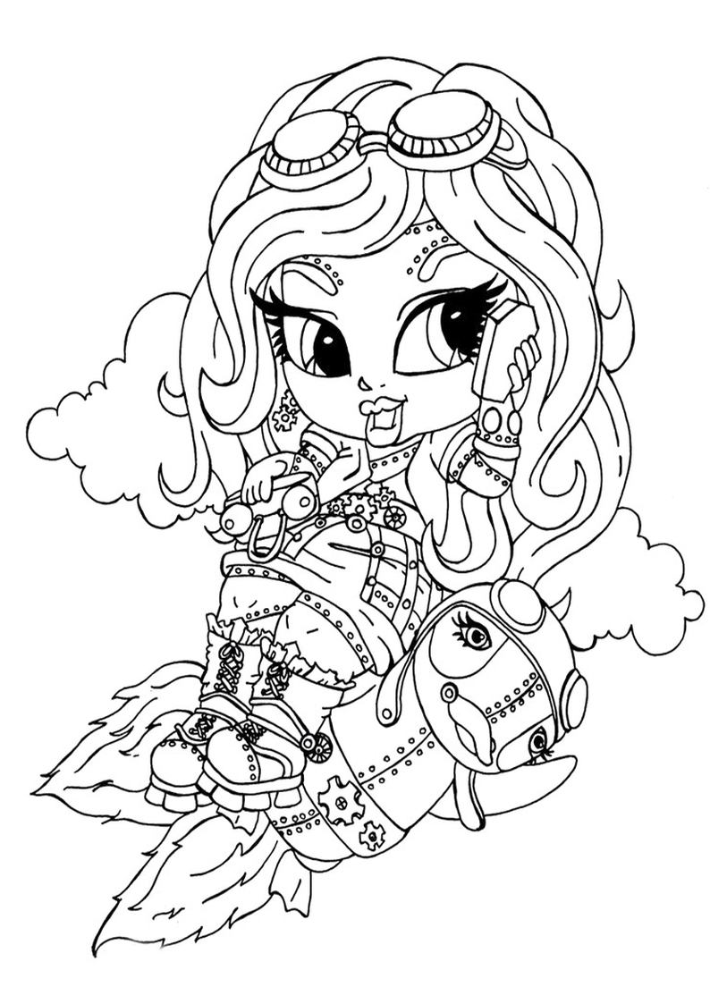 Monster High Robecca Steam Coloring Pages Printable