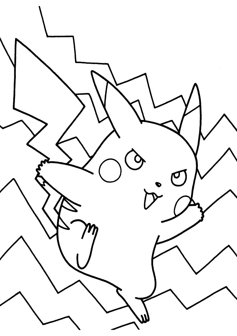 Kolorowanka Pikachu Pokemon Malowanka Do Wydruku Nr 85