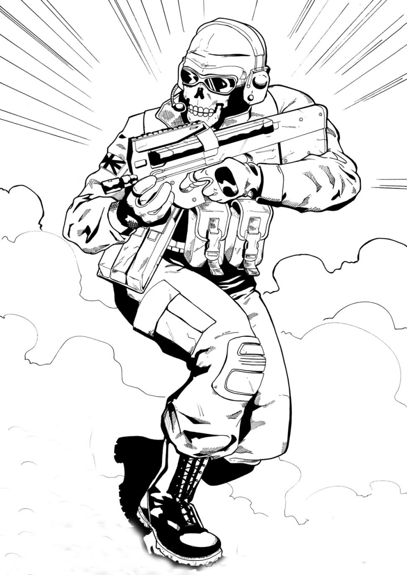 Call Of Duty Coloring Pages